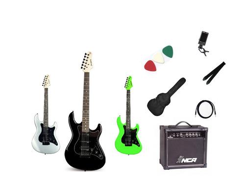 kit guitarra strinberg strato egs267+amplificador+ brindes