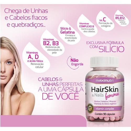 kit hair skin & nails femme (cápsula da beleza) 360 cápsulas