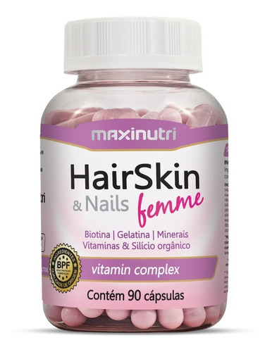 kit hair skin & nails femme (cápsula da beleza) 360 cápsulas