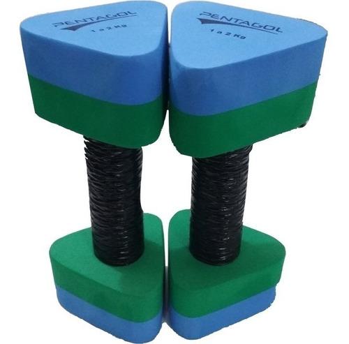kit halter hidro eva um par 1 a 2kg e um par 2a3kg