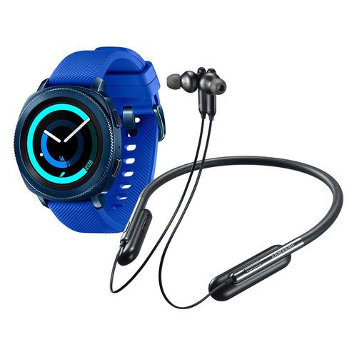 kit hard bundle gear sport azul + audifonos u flex samsung