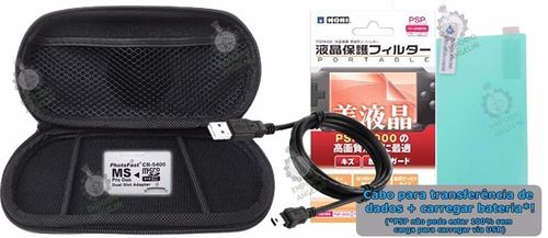 kit hard case adapt memoria cabo película psp slim 2000/3000