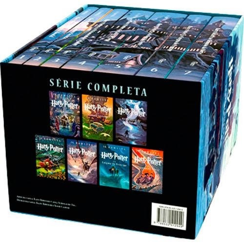 kit harry potter - box 7 livros e box 8 dvds originais #