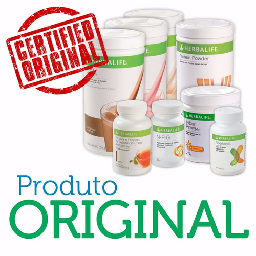 kit herbalife chá verde 100g e fiberconcentrate