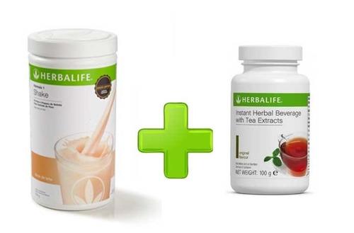 kit herbalife - shake 550g + chá 50g