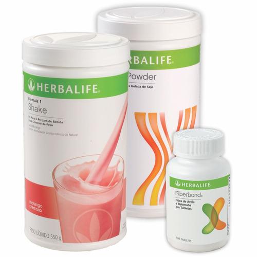 kit herbalife shake, proteína 480 e fiberbond