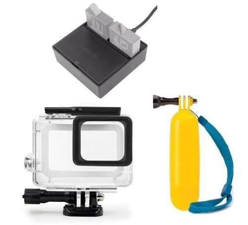 kit hero 5 6 7 black carregador duplo+flutuante+cx estanque