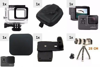 kit hero 5 6 case estanque películas tampa sup mochila tripé