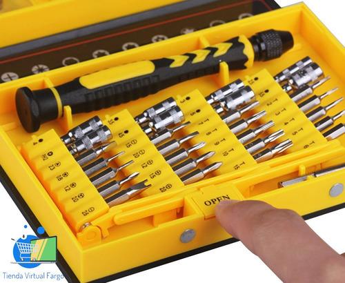 kit herramienta 38en1 reparación celular iphone ipad samsung