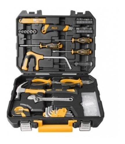 kit herramientas 117 pzas combinadas caja ingco c valija