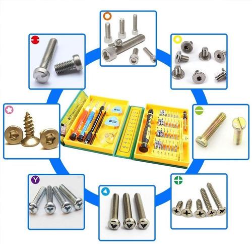 kit herramientas 38en1 reparación celular iphone ipad laptop