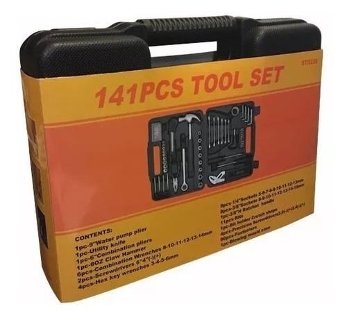 kit herramientas caja juego 141 piezas valija maletin