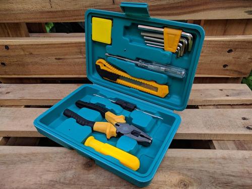 kit herramientas carro kit carretera estuche duro 12 piezas