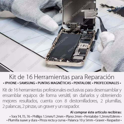 kit herramientas desarmador