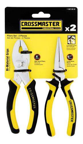 kit herramientas en set de pinzas 2 piezas crossmaster