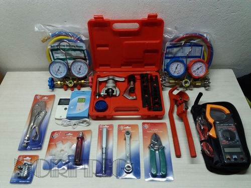 kit herramientas refrigeracion n°4 norfrig super completo