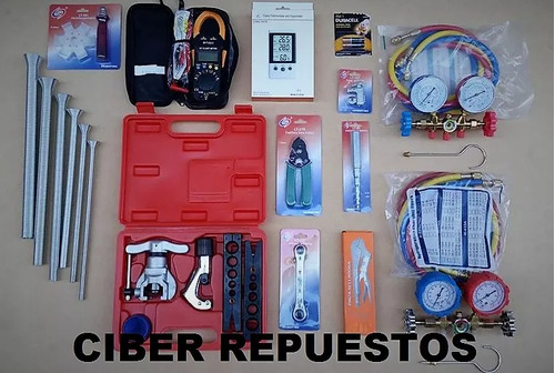 kit herramientas refrigeracion n°9 + b. vacio 68 l/m dosivac