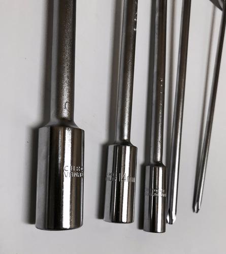 kit herramientas tubos t 12,14,17 + phillips solomototeam