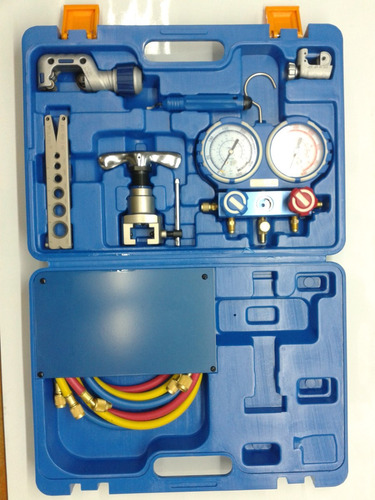 kit herramientas value vtb-5b-i manifold + pestañadora r410a