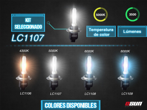 kit hid xenon osun slim ac luces baja y dual