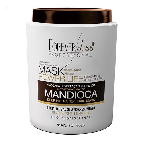 kit hidratação profunda máscara de mandioca e 2 escova zero