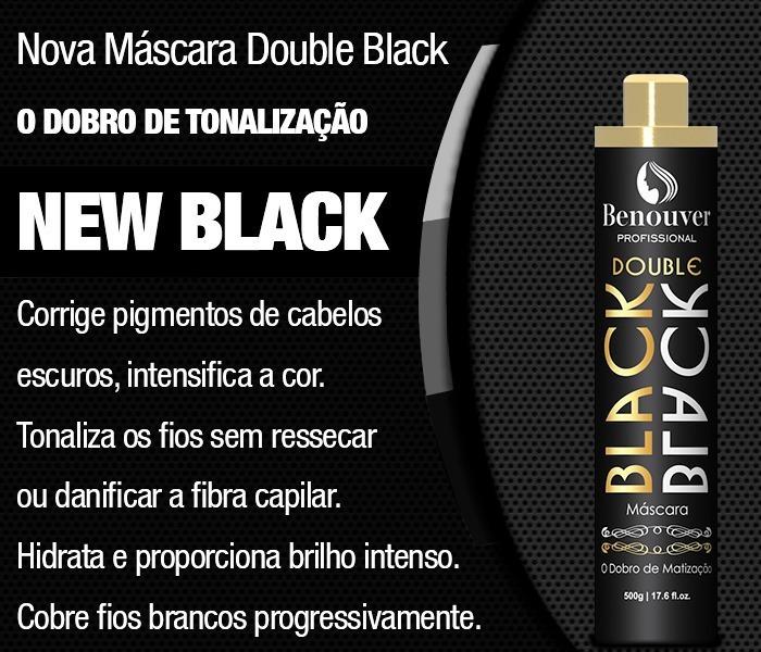 89e91d59b Kit Hidratação Shampoo/máscara Lama Negra/matizador Benouver - R ...