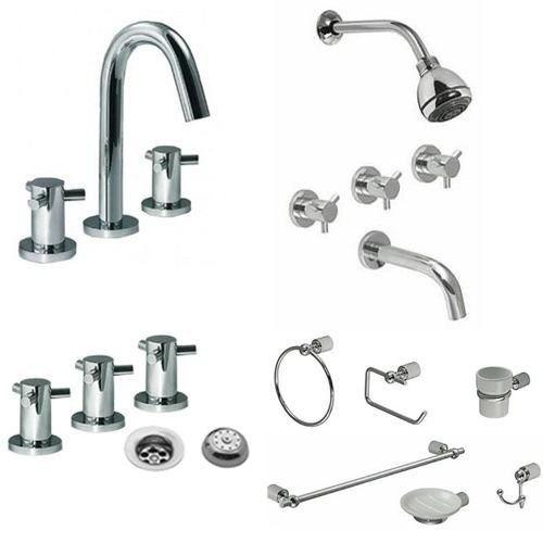kit hidromet triply   lavatorio + bidet + ducha + accesorios