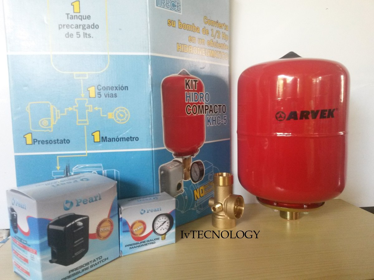 Kit Hidroneumatico Pedrollo 5 Litros P Bomba De Agua Bs