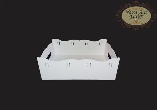 kit higiene bebê 8 peças mdf fita branco decoração quarto
