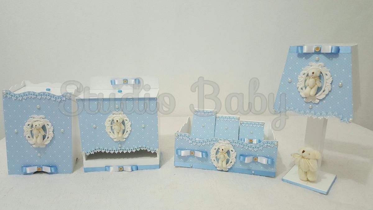 Kit Higiene Para Banheiro Infantil : Kit higiene beb? menino pr?ncipe azul po? mdf