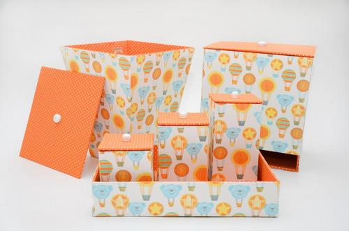 kit higiene bebê - ursinho laranja