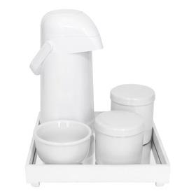 Kit Higiene Bebê Porcelanas Térmica Completo Espelho Branco