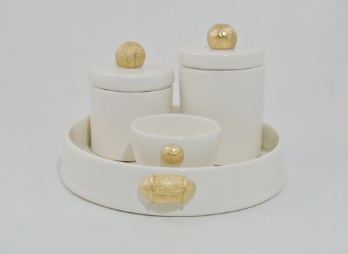 kit higiene bolas esporte futebol cerâmica cotonete bebê