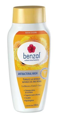 kit higiene intima benzal toallet+spray+wash manzanilla