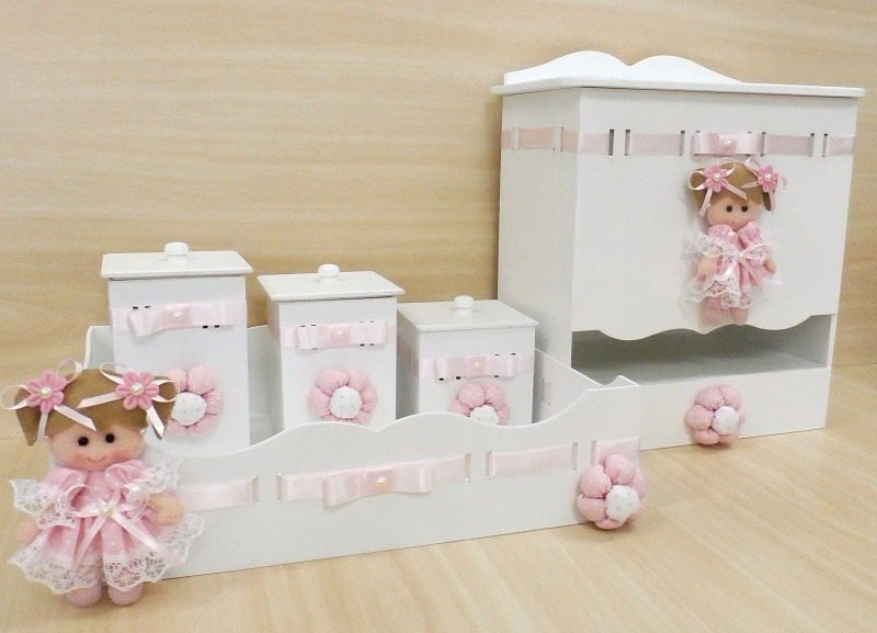 Artesanato Kit Higiene ~ Kit Higiene Mdf Quarto Bebe Decoracao Kt006 R$ 269,99 em Mercado Livre