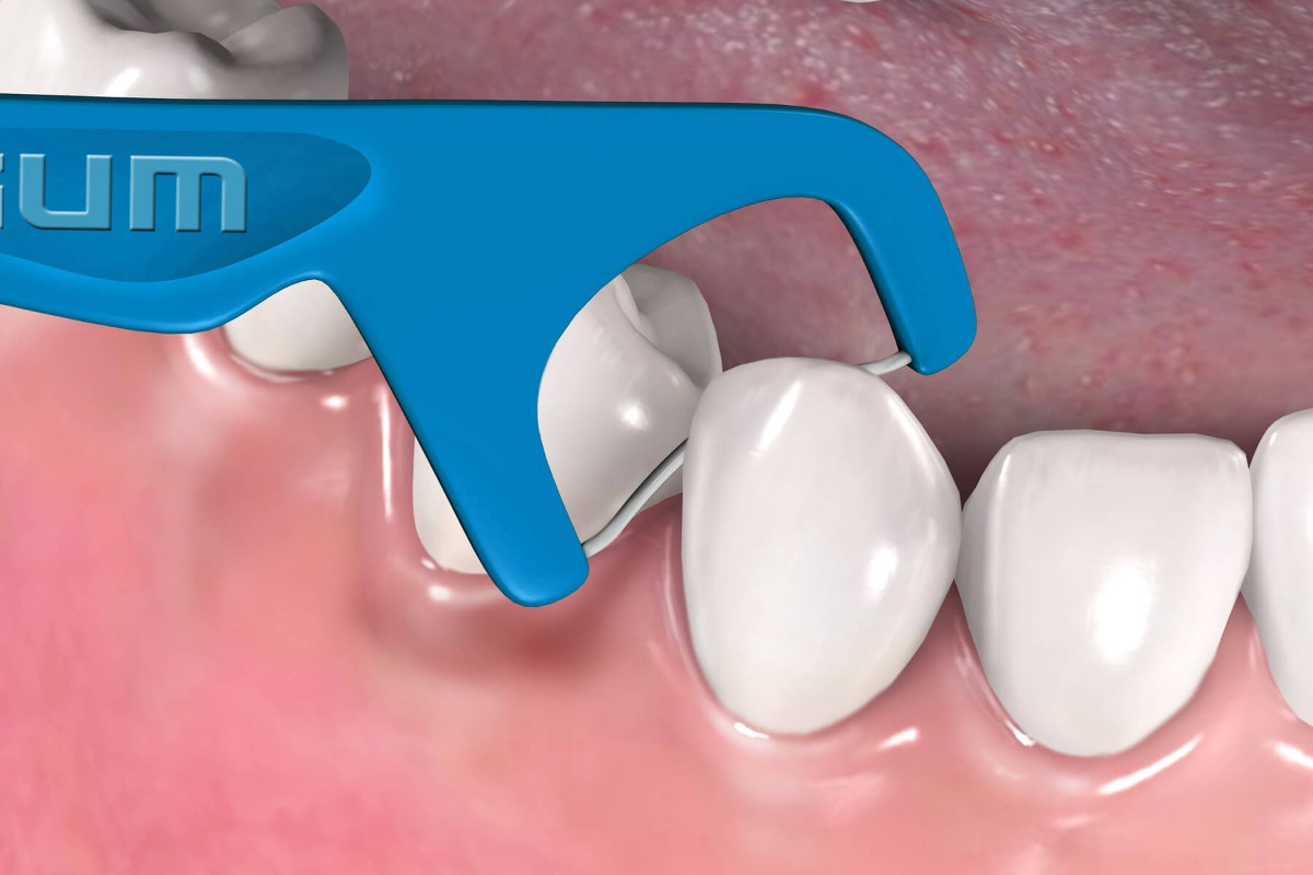 08ab69852 Kit Higiene Oral Adulto Gum  Escova + Fio Dental Com Cabo - R  44