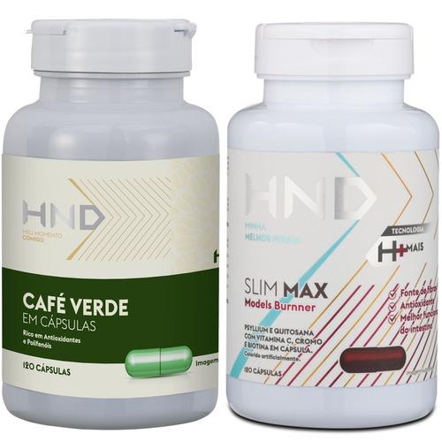 kit hnd perda de gordura café verde + slim max