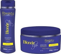 kit home care matizante blonde life absoluty color pro.