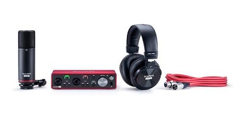 kit home studio scarlett 2i2 studio - 3a geração - focusrite - com nota fiscal e garantia de 2 anos proshows!