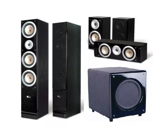 kit home theater 5 1 pure acoustics qx900 sub sn 10 r em mercado livre. Black Bedroom Furniture Sets. Home Design Ideas