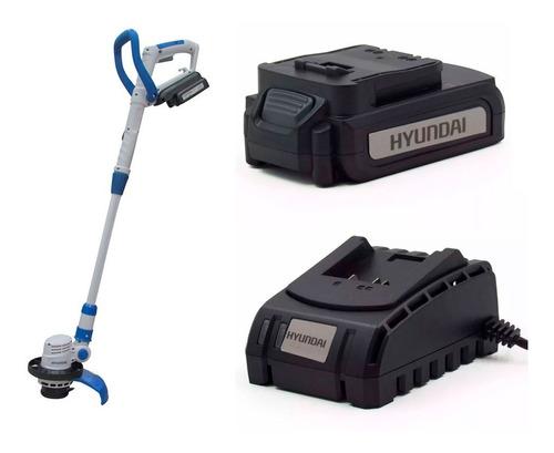 kit hyundai bordeadora + bateria 4,0 ah + cargador - sti