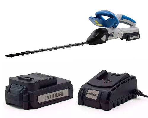 kit hyundai cortacerco + bateria 4,0 ah + cargador - sti