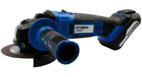 kit hyundai taladro 13mm + amoladora 115m + bateria 2,0a sti