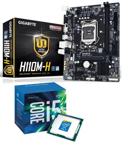 kit - i5 7400 + placa mãe gigabyte h110m-h hdmi usb 3.0 c/nf