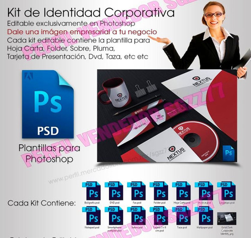 kit identidad corporativa photoshop mas increibles regalos!!