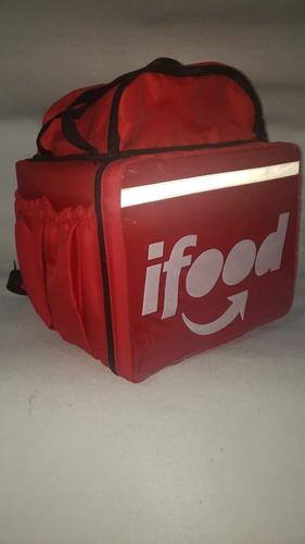 kit ifood 6 mochilas delivery motoboy 44 litros vermelha