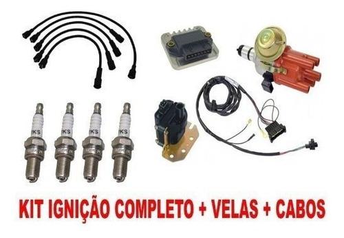 kit ignição eletrônica fusca brasilia kombi + cabo e vela