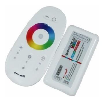 kit iluminação 3 led rgb+touch+ cx passagem+ adap fibra