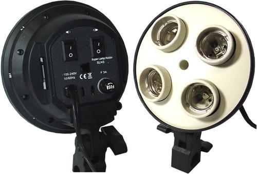 kit iluminação contínua 50x70 lâmpada 85w 110v