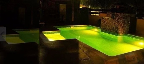 kit iluminação luminaria piscina 4 refletor led rgb + modulo